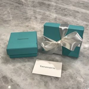 Tiffany & Co. set of 2 boxes, ribbon, & care card